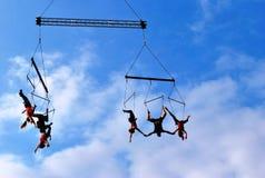 空中舞蹈表现展示 免版税库存照片