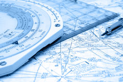 空中航线定位 库存照片