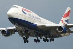 空中航线英国庞然大物 免版税库存照片