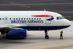 空中航线英国飞机 库存照片