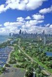 空中芝加哥伊利诺伊视图 免版税图库摄影
