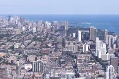 空中芝加哥白天视图 库存照片