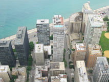 空中芝加哥 库存图片