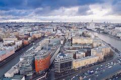 空中莫斯科市全景 库存图片