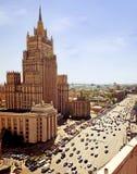 空中莫斯科视图 免版税库存照片