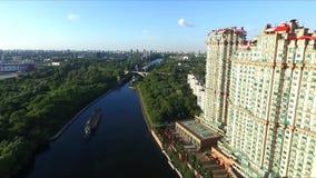 空中莫斯科视图 股票视频