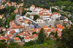 空中葡萄牙sintra视图 库存照片