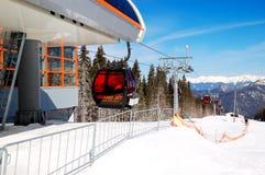 空中览绳驻地在Jasna低Tatras 免版税图库摄影