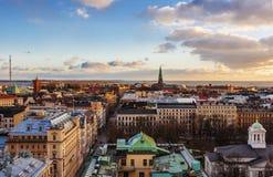 空中赫尔辛基视图 免版税图库摄影