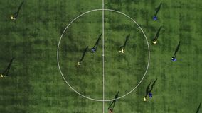 空中足球比赛开始 期初比赛 橄榄球赛 影视素材