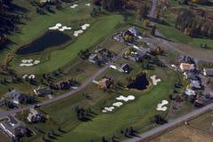 空中路线高尔夫球视图 图库摄影