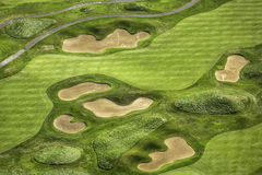 空中路线高尔夫球视图 库存图片