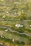 空中路线高尔夫球 库存图片