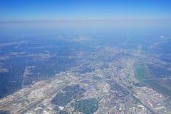 空中达拉斯视图 免版税图库摄影