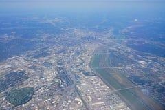空中达拉斯视图 免版税库存照片