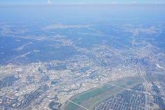 空中达拉斯视图 免版税库存图片