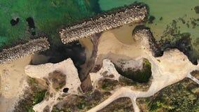 空中迅速移动奇里卡海湾海边的看法,西西里岛,意大利,4K 股票录像
