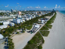 空中迈阿密海滩佛罗里达 免版税库存图片
