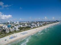 空中迈阿密海滩佛罗里达 库存照片