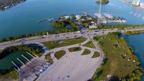空中迈阿密海滩 股票录像