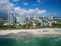 空中迈阿密海滩 免版税图库摄影