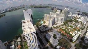 空中迈阿密海滩4k录影 股票视频