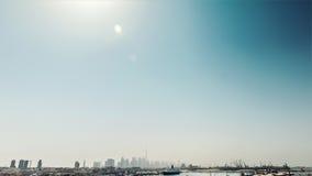空中迪拜视图 免版税库存图片