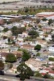 空中郊区视图 免版税图库摄影