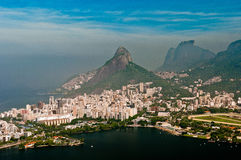 空中里约热内卢风景 免版税库存图片