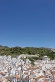 空中镇西班牙城镇视图 免版税库存照片