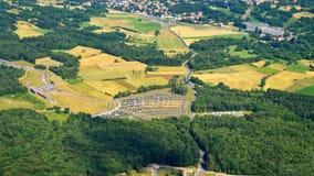 空中阿尔卑斯沿岸航行海岛新的照片南南西方西兰 免版税图库摄影