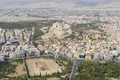 空中雅典照片 免版税图库摄影
