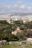 空中雅典视图 库存照片