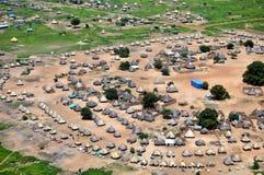 空中非洲住房 免版税图库摄影