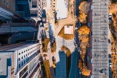 空中顶面城市 图库摄影