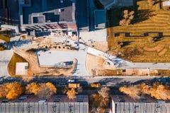 空中顶面城市 免版税库存照片
