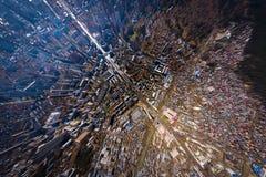 空中顶面城市 免版税图库摄影
