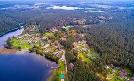 空中风景, Paluse村庄 库存照片