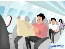 空中飞机室内设计概念 免版税库存图片