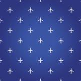 空中飞机旅行蓝色背景 免版税库存照片