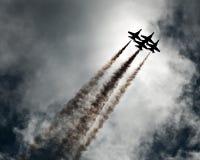 空中飞机显示 库存图片