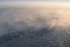 从空中飞机的天空 免版税库存图片
