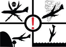 空中飞机崩溃显示 图库摄影