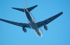 空中飞机 免版税图库摄影