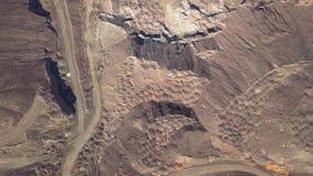 空中飞行今后上面行星火星剧烈的表面  影视素材