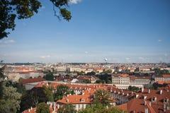 空中首都捷克布拉格视图 免版税库存照片