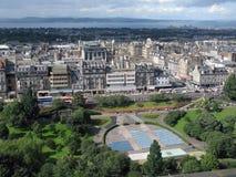 空中首都爱丁堡苏格兰视图 免版税库存图片