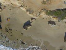 空中马利布海滩视图 免版税库存图片