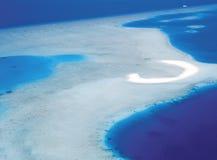 空中马尔代夫视图 库存照片