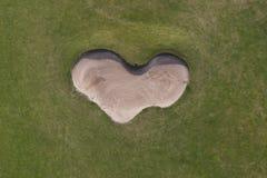 空中高尔夫球 库存照片